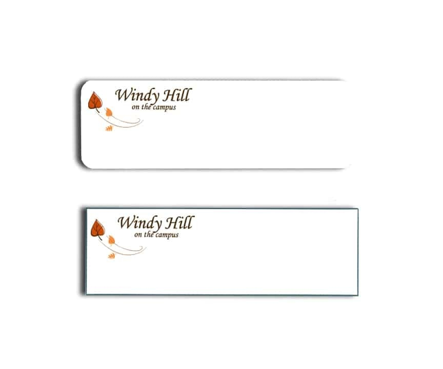 Windy Hill name badges