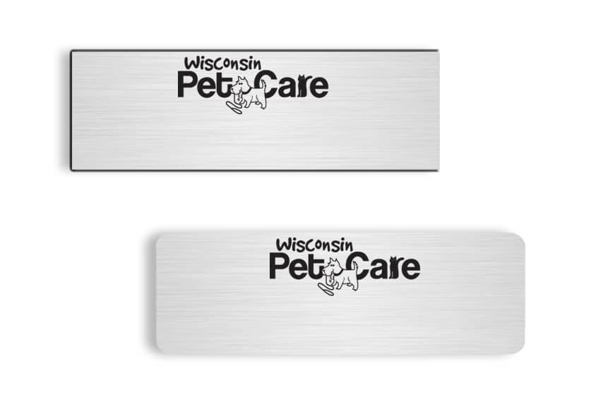 Wisconsin Pet Care Name Badges
