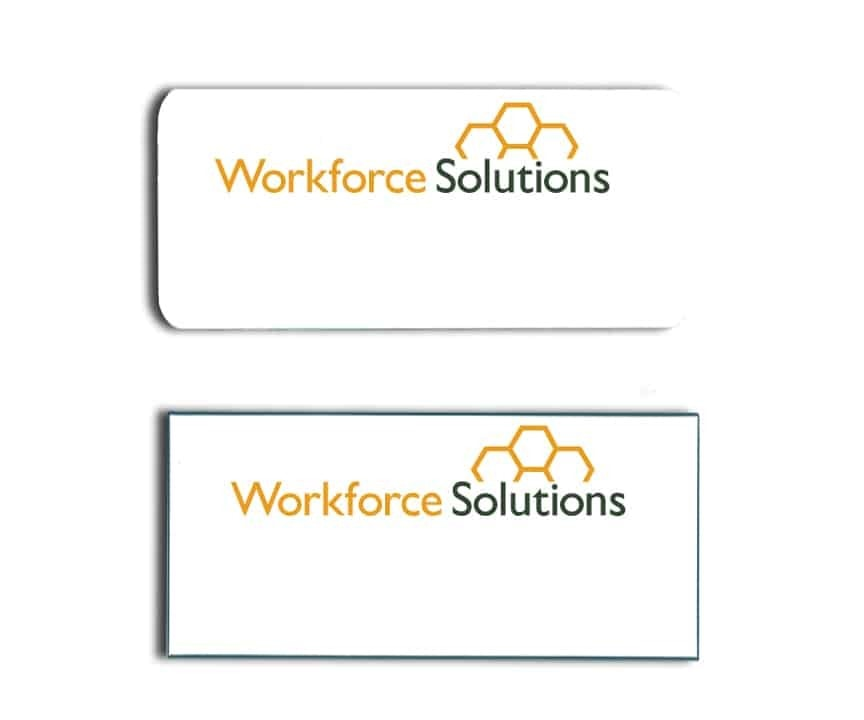 Workforce Solutions name badges