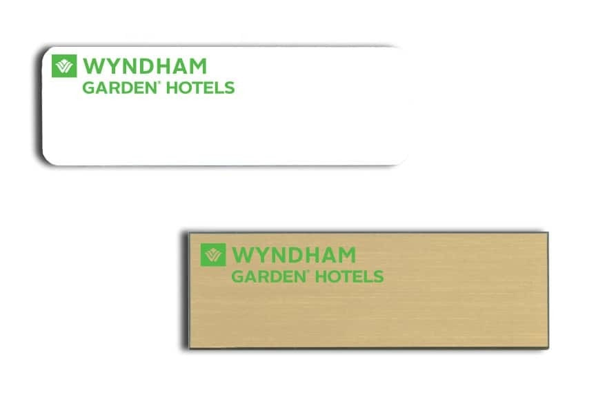 Wyndham Garden Hotels name badges