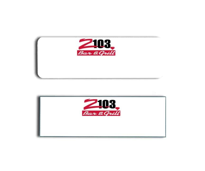 Z103 name badges