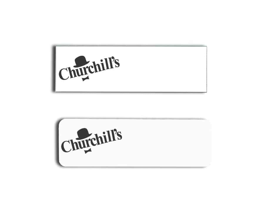 churchills name badges tags