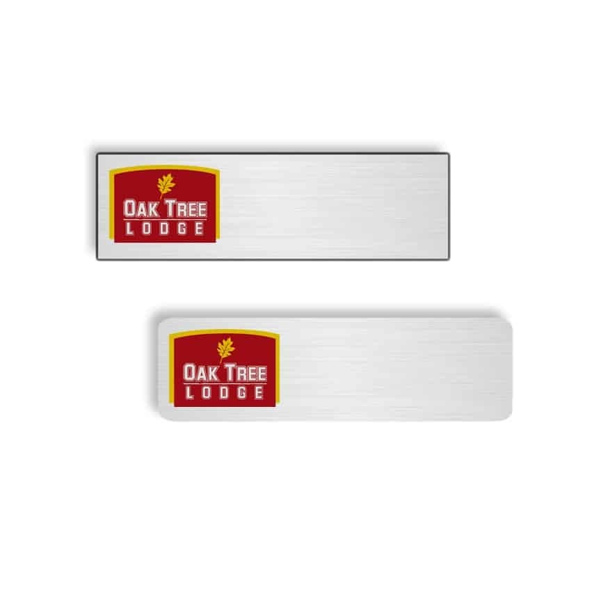 oak tree lodge name badges tags