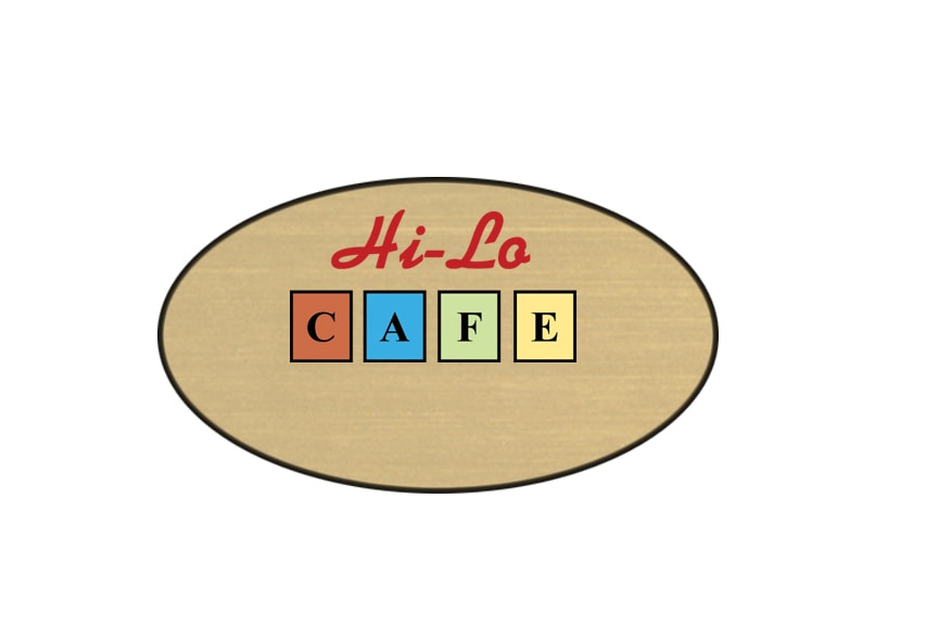 Hi-Lo Cafe name badges