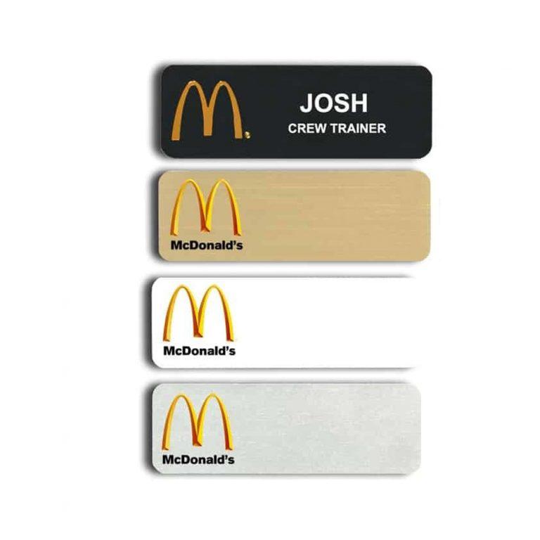 Mcdonalds Name Badges