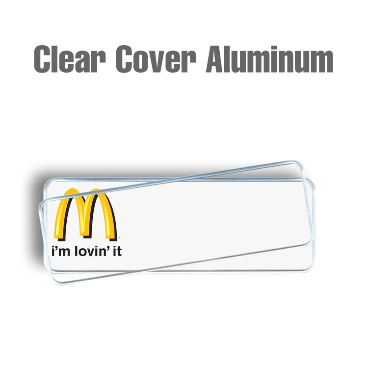 McDonalds Clear Cover White