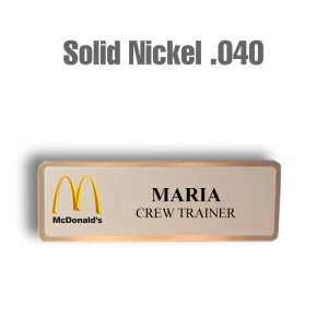 McDonalds Solid Nickel
