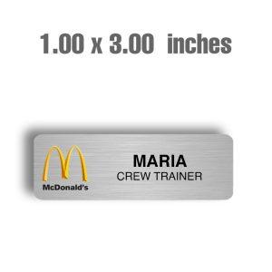Mcdonalds 1X3 Silver