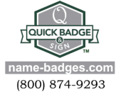 Quick Badge & Sign Logo
